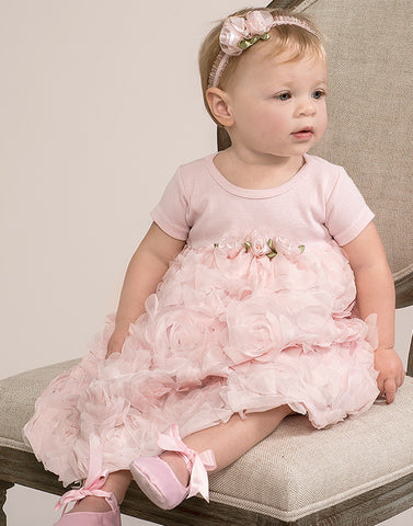 Truffles Ruffles Rose Dress in Blush for Babies & Toddlers