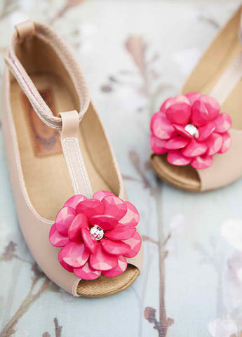 Joyfolie Cecily T-Strap Mary Jane Shoes with Jewel Flower  CLEARANCE