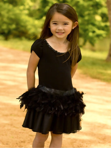 Dolls & Divas Mina Tutu Dress with Feathers sz 4 only