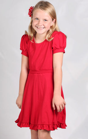 Five Loaves Two Fish Famous Swingtime Dress in Red