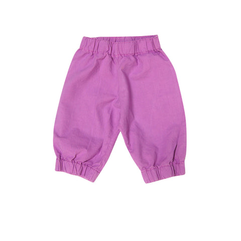 Go Gently Baby Paper Bag Pants in Rose Violet Amazing Fabric sz 6/12m only