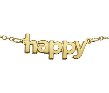 100% Gumdrop Happy Necklace 14K gold dipped & CPSIA Lead-Free