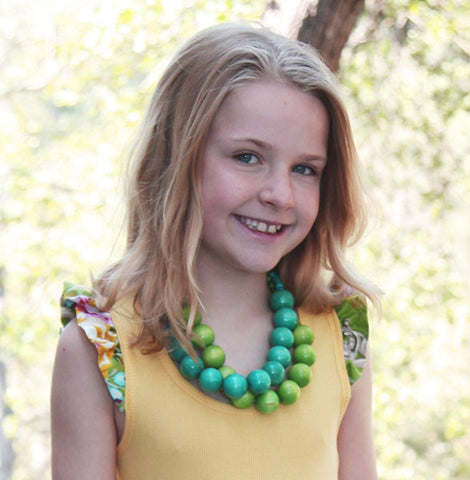 Dreamspun Wooden Bead Necklace for Girls