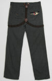Mini Shatsu Herringbone Suspender Tromp L'oeil Pants for Boys sz 4 & 8
