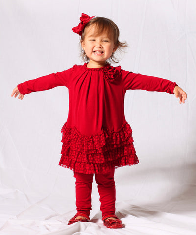 Kate Mack Dozen Roses Tunic and Legging 12 mos only