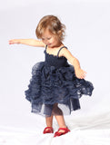 Dolly Bubble Dress in Dark Blue