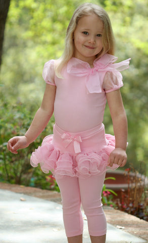 Maeli Rose Girls Big Bow Top in Pink