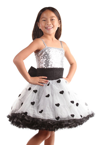 Ooh La La Couture Wow Pouf Dress in Black/Silver sz 14 only