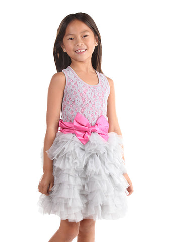 Ooh La La Couture Wow Dream Dress in Silver Sparkle Lace