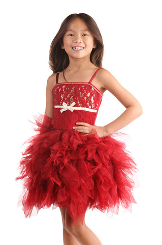 Ooh La La Couture Emma Dress in Red Sparkle Lace sz 12 only