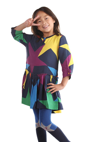 Stella McCartney Kiwi Star Dropwaist Dress for Tweens