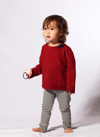 Go Gently Baby Bow Sweatshirt in Brick sz 5 & 6