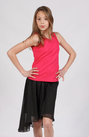 ElisaB Textured Knit Tank Top in Fuschia sz 12 & 14 & 16 only
