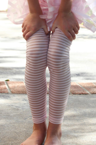 Maeli Rose Pink Ribbon Stripe Legging sz 4 & 10 only