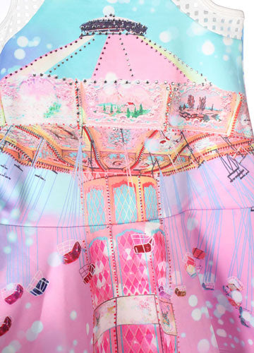 Baby Sara Carousel Swing Dress Sz 2t Only Bunnies Picnic