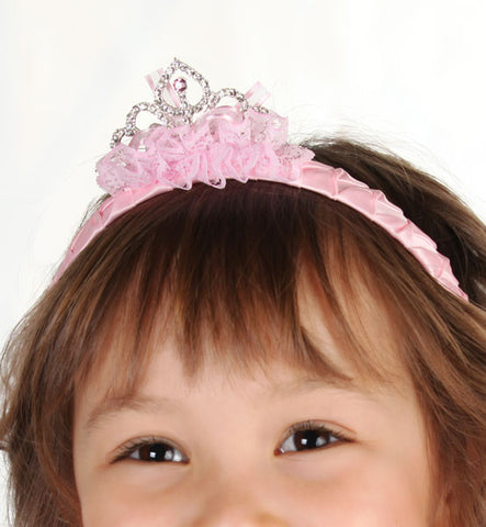 Maeli Rose Tiara Headband in Pink