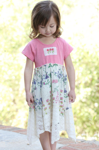 Mimi & Maggie Embroidered Lace Hanky Dress