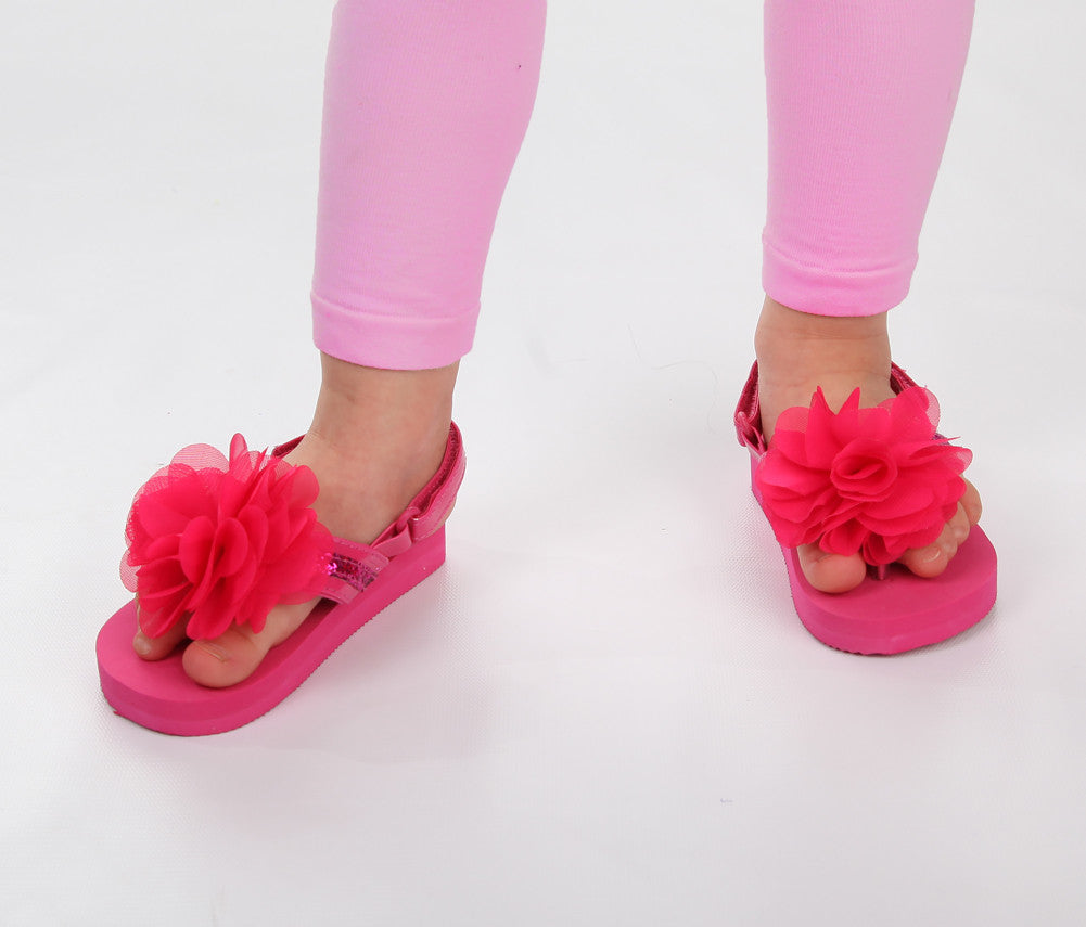 ccb30e5d3737e0 ... L amour Adorable Flower Flip Flop Sandals in Fuchsia with and without – Bunnies  Picnic san ...