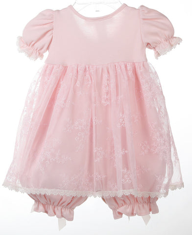 Katie Rose Faith Bloomer Heirloom Baby Dress in Pink