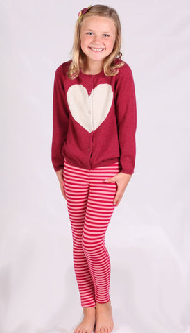 Pink Chicken Hannah Heart Sweater XOXOXO