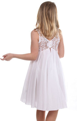 Eliane et Lena Flore Dress in White sz 2 & 3 only