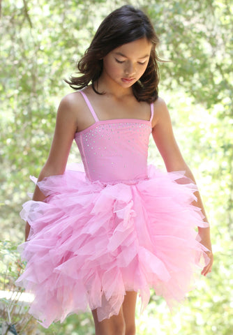 Ooh La La Couture Devin Dress with Swarovski Crystals in Pink Lady sz 2T 3T only