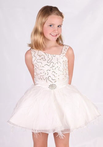 Dolly Swan Tutu Dress  CLEARANCE! sz 10 only
