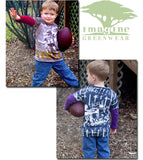 Imagine Greenwear Organic L/S Two-Fer Score Football Tee sz 4 & 6 only