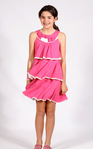 Isobella and Chloe Madeline Dress in Hot Pink sizes 4 and 6x only