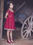 Joyfolie Mia Joy Josefine Dress in Red sz 8 only