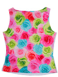 Kate Mack Hula Flowers Rose Tank Top sz 4 only