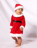 Le Top Miss Santa Dress with Rhinestone Buckle