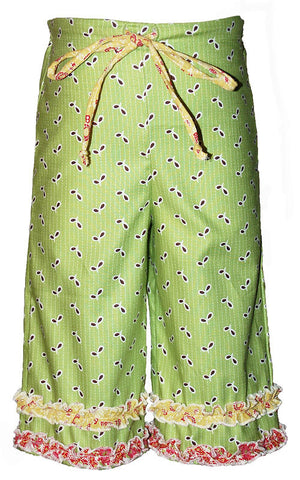 Moxie & Mabel Katie Capris in Vintage Green sz 12m 2 & 3 only