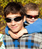 RKS Xtreme Sport Sunglasses in Black/Silver for Kids & Tweens