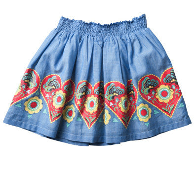Paper Wings Folk Art Skirt