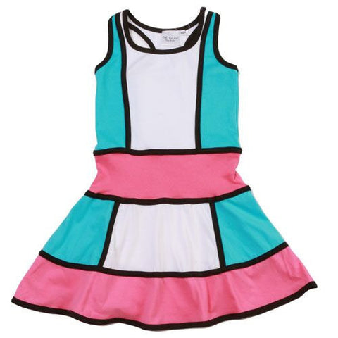 Ooh La La Couture Colorblock Dress in Sky Blue sz 8