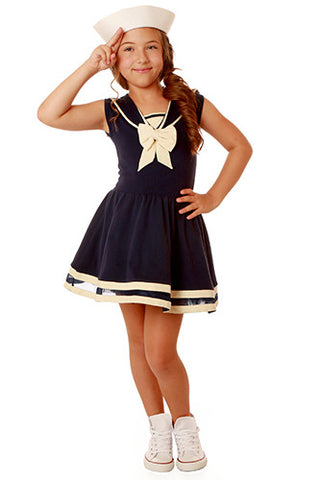 Ooh La La Couture Sailor Dress in Navy Blue sz 24 mos