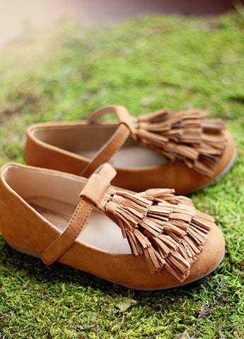 Joyfolie Sydni Vegan Suede Fringe Mary Jane Shoes