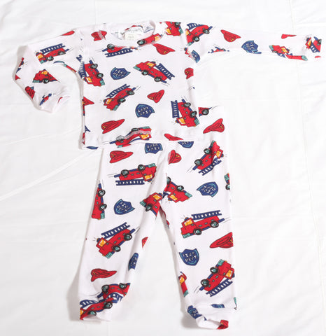 Thingamajiggies Fire Engine Pajamas for Boys sz 7 only