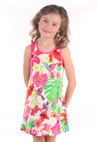 Baby Sara Jeweled Hummingbird Shift Dress