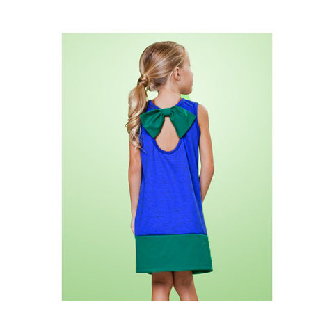 Matooka Stretch Back Bow Color Block Dress sz 8