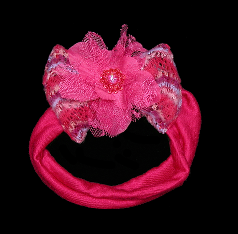 Bebemonde Hot Pink Stretch Infant Headband for Babies
