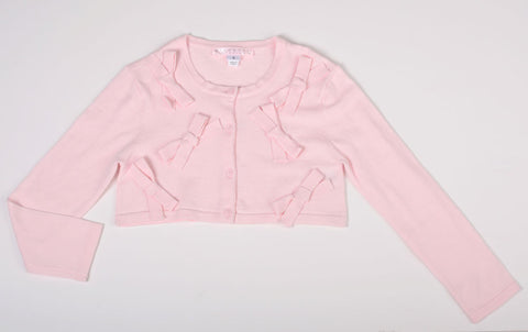 Biscotti Bows Cardigan in Soft Pink
