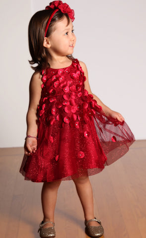 Biscotti Falling for Dots Red Dress sz 12m only