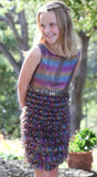 Biscotti Iridescence Rainbow Jewels Dropwaist Dress sz 7 only