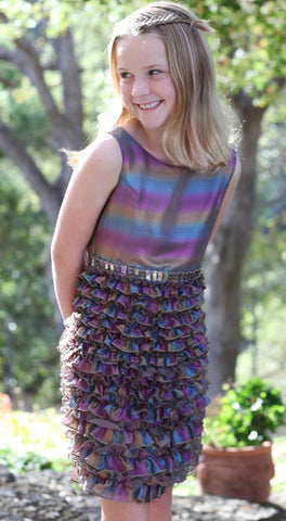 Biscotti Iridescence Rainbow Jewels Dropwaist Dress