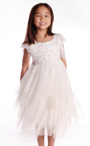 Biscotti Once Upon a Princess Fluttering Tutu Dress sz 5 & 6x only