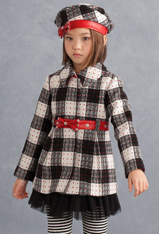 Biscotti School of Rock Super-Soft Plaid Coat sz 4 & 5 & 6x only