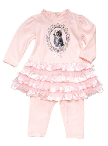 Biscotti Pretty Kitty Ruffled Dress with Leggings sz 9 mos & 12 mos & 18 mos only