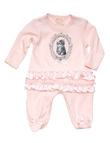 Biscotti Pretty Kitty Footed Romper sz 9 mos only